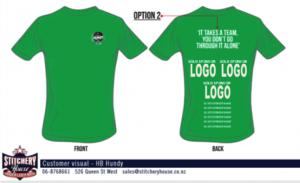 silver sponsorship t-shirt